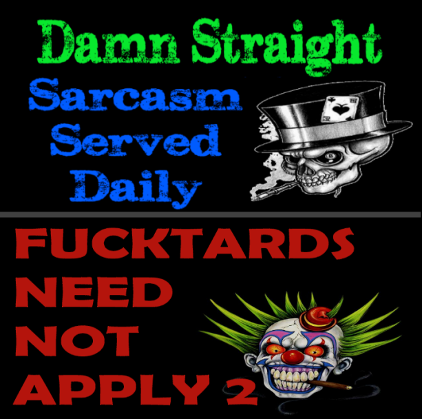 BOTH Damn Straight Sarcasm Served Daily - Dipshits Need Not Apply Profile Pic PING