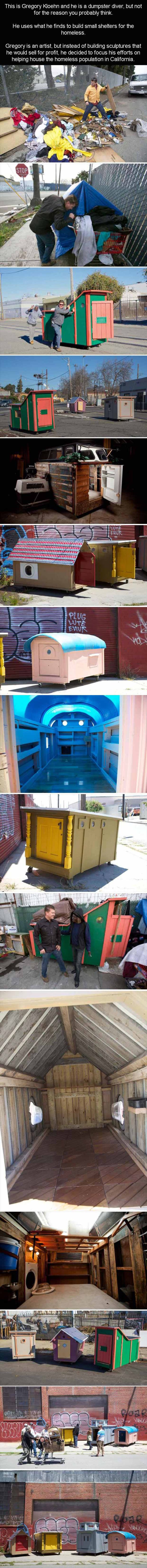 1 homeless shelter made from