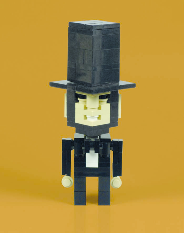 Abe Lincoln representing the Legos