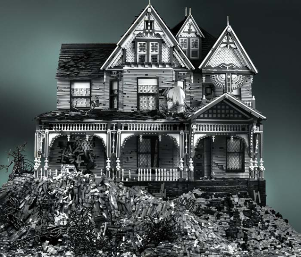 Creepy Lego haunted house.