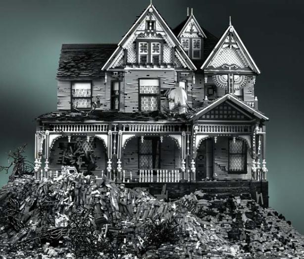 Creepy Lego haunted house.