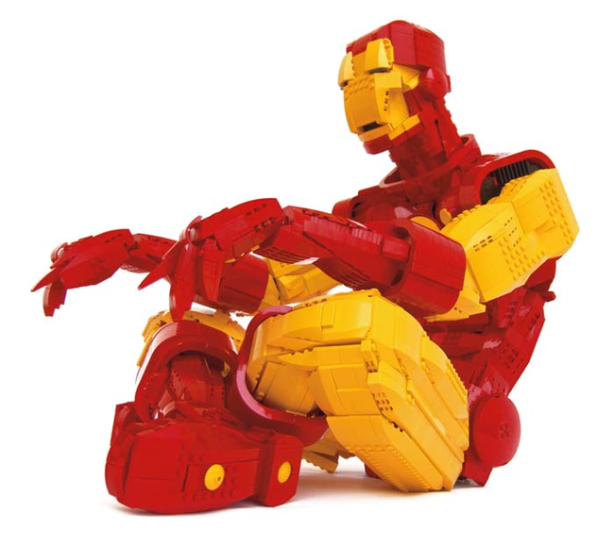 Iron Man made solely of Legos