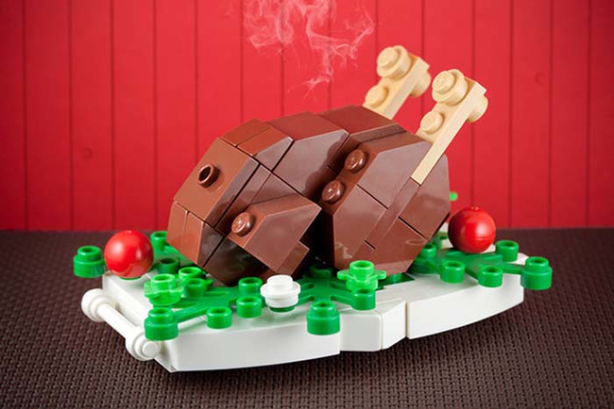 Mmm, Thanksgiving Turkey in the form of a Lego.