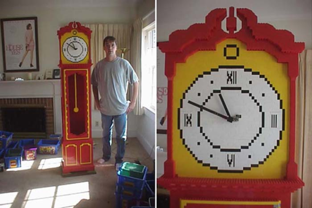 One large Lego clock.