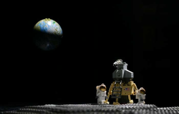 Lego landing on the moon
