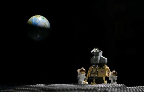 Lego landing on the moon