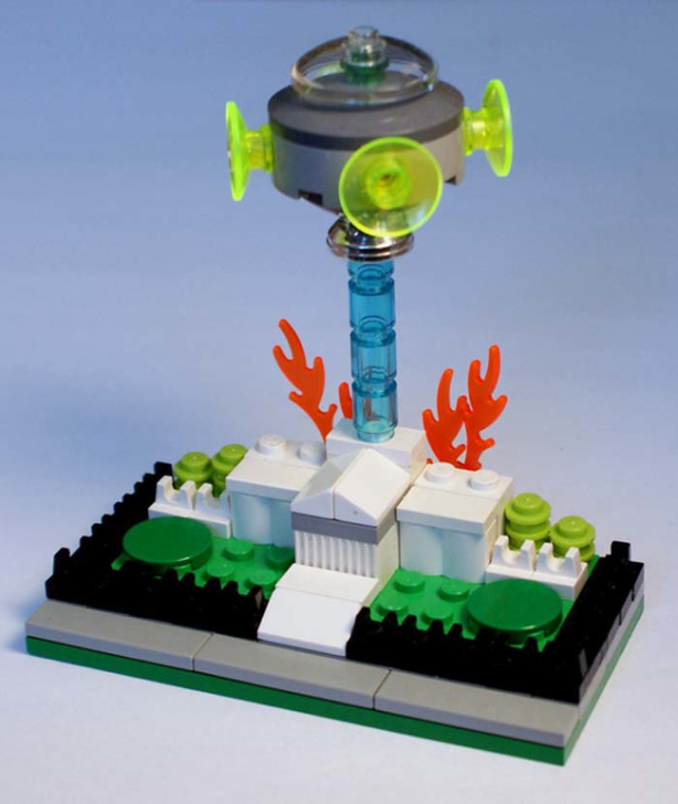 Aliens attacking the White House