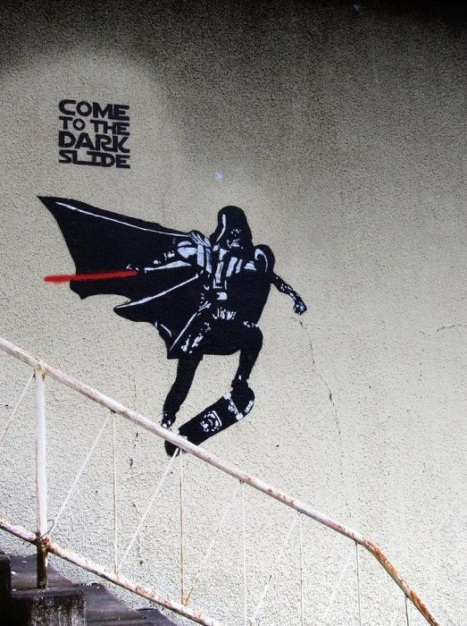 One very well know artist is Banksy. He is a UK based graffiti artist, film director, political activist, and painter.